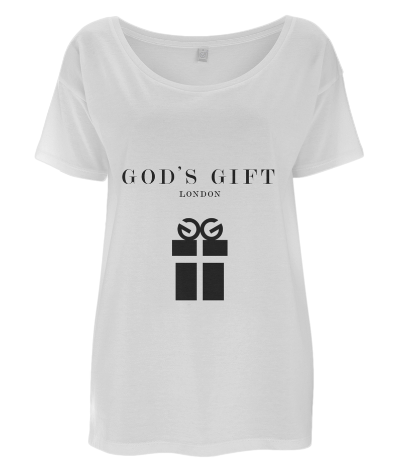 Women's T-Shirt - FULL LOGO T-SHIRT God's Gift London White / Small