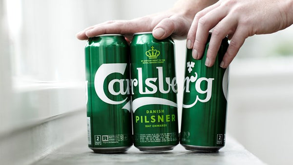Carlsberg sustainable beer no plastic