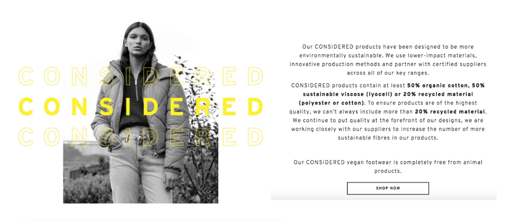 topshop conscious collection sustainable