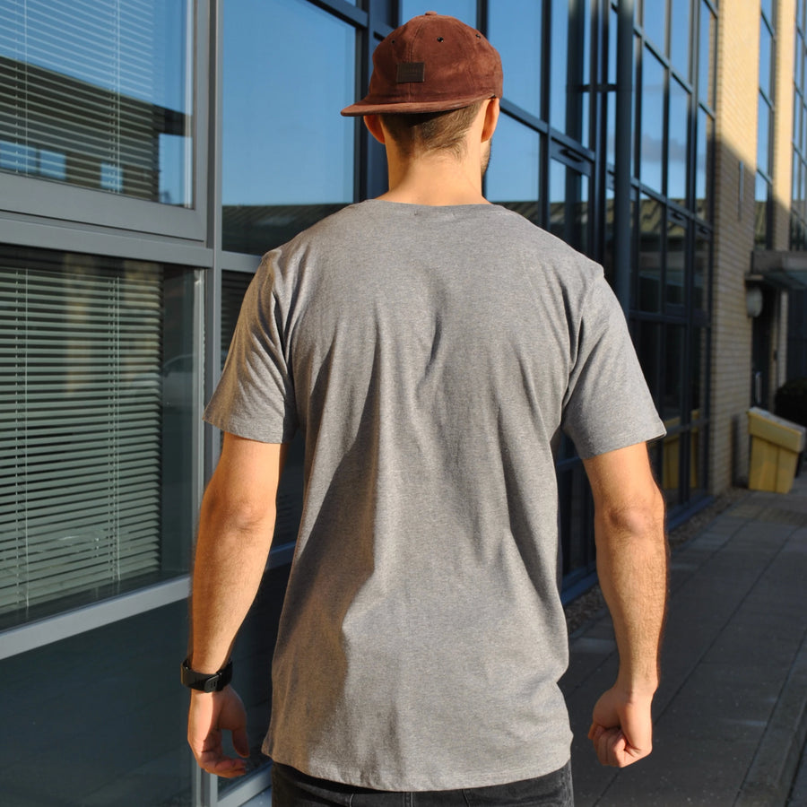 Grey Men's Organic Cotton T-Shirt | Cariki Mountain - Cariki Bamboo Clothing