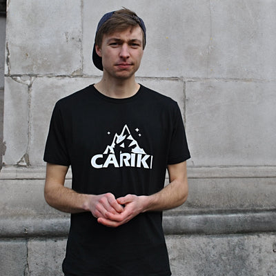 Men's Bamboo T-Shirt Black | Cariki Mountain - Cariki Bamboo Clothing