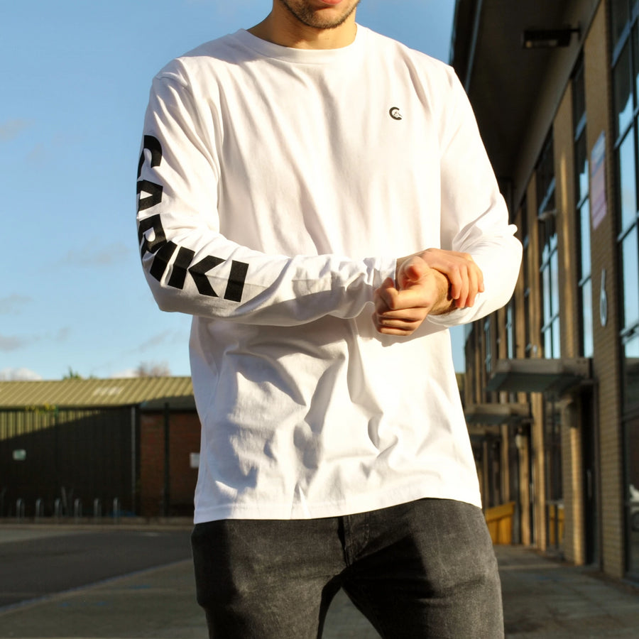 White Long Sleeve Men's T-Shirt | Cariki Apparel - Cariki Bamboo Clothing
