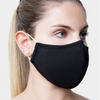 Plain Black Organic Cotton Face Mask