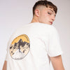 Men's Climber T-Shirt White Organic Cotton - Fortune Favours The Brave