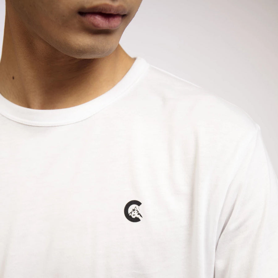 Men's White Bamboo Small C T-Shirt