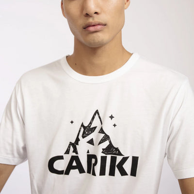 White Bamboo Men's T-shirt | Cariki Mountain