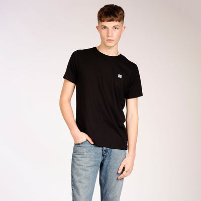 Mens Black Recycled Polyester Sunset T-Shirt