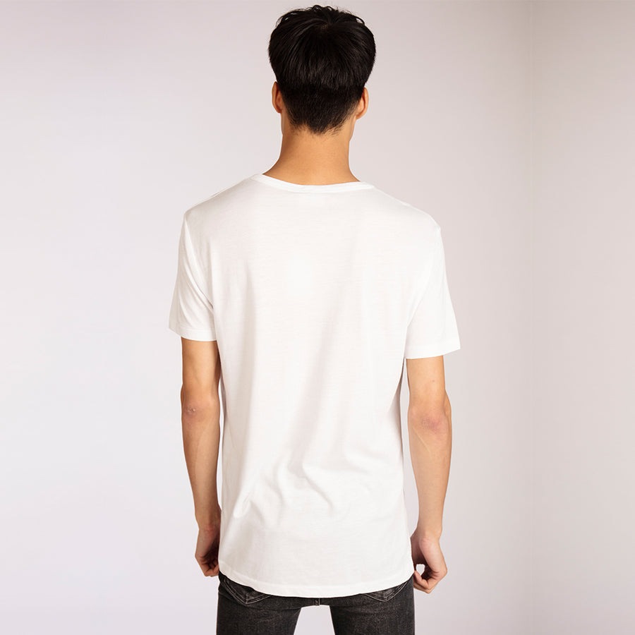 Men's Big C White Bamboo T-Shirt