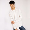 Men's Organic Long Sleeve White - Fortune Favours The Brave