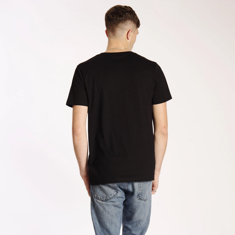Mens Heavy Organic Plain T-Shirt Black