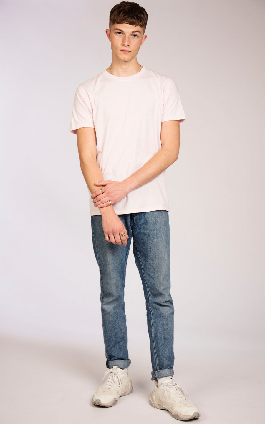 Men's Plain White Organic Cotton T-Shirt