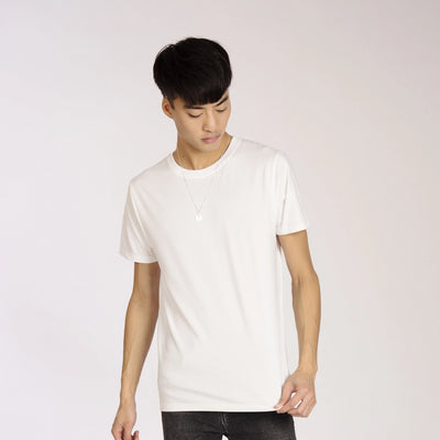 Mens Heavy Organic Cotton Plain White T-Shirt