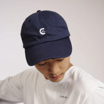 Mens Navy Unstructured Cap