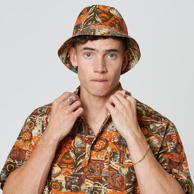 Mens Tencel Sustainable Bucket Hat Red