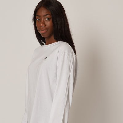 Women's White Mountain Organic Cotton Long Sleeve T-Shirt