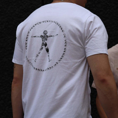 Mens Vitruvian Man White Tee
