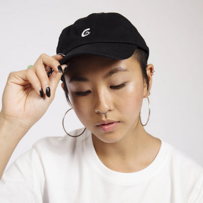 Women's Black Unstructured Cap