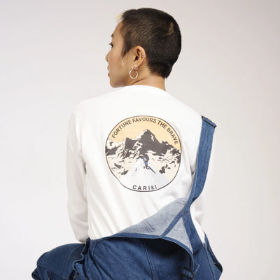 Womens Cariki Climber Long Sleeve White
