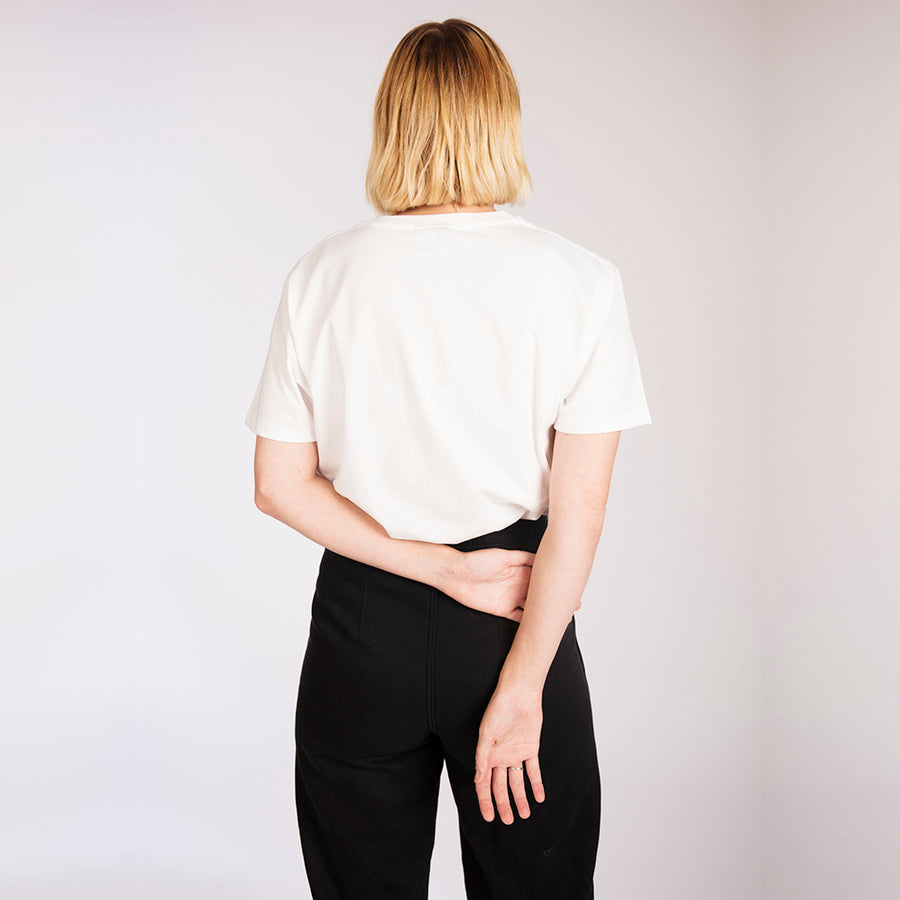 Women's Plain White Organic Cotton T-Shirt
