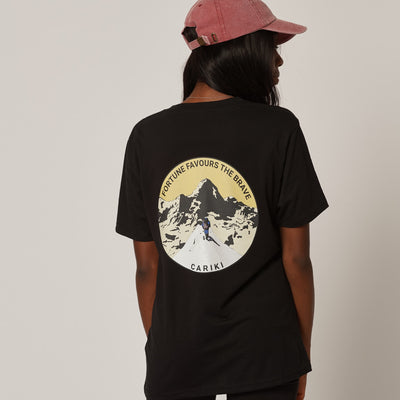 Women's Climber Black Organic Cotton T-Shirt