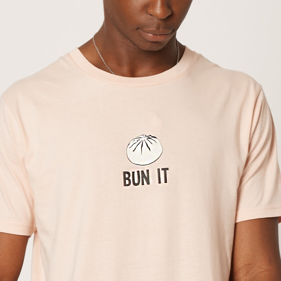 Mens Bun It Pink Organic T-Shirt