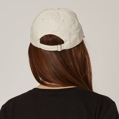 Women's Cream Unstructured Cap