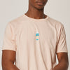 Mens Pink Organic Cotton Ice Cream T-Shirt