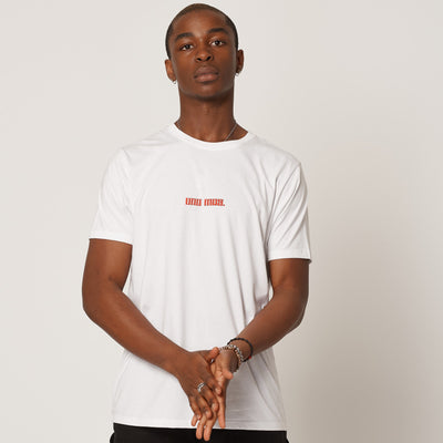 Mens Uno Mas Organic Cotton T-shirt White