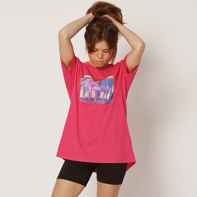 For A Fresher Mind Womens Pink Organic Cotton T-Shirt