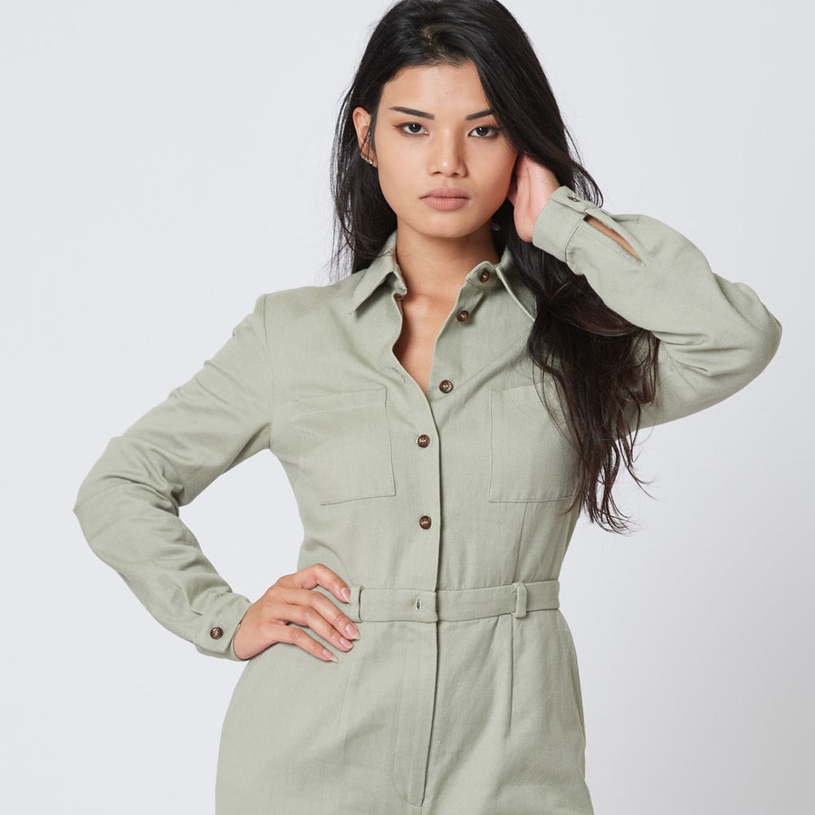 Green Organic Cotton Jumpsuit