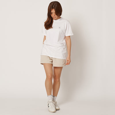 Womens Vitruvian Man White