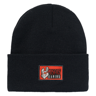 Misfits Gaming Ribbed Knit Hat - Black