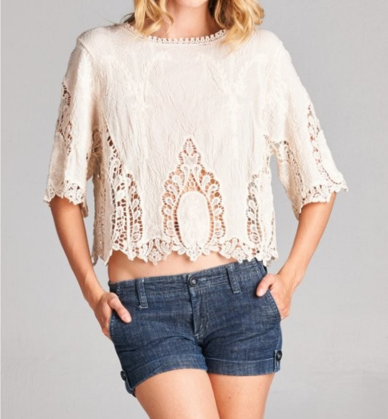 Lace Crop Top Size M/L