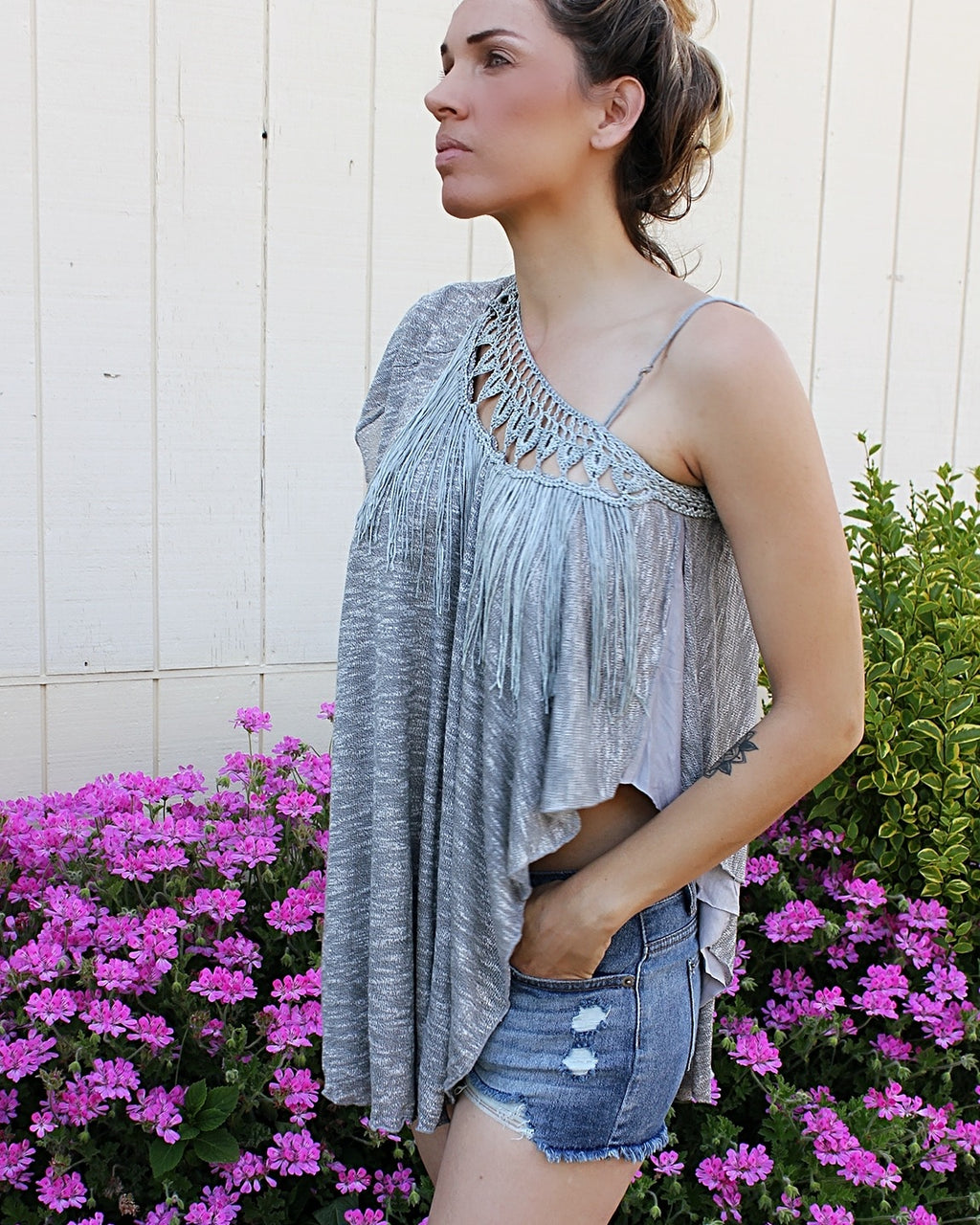 Macrame Asymmetrical Top