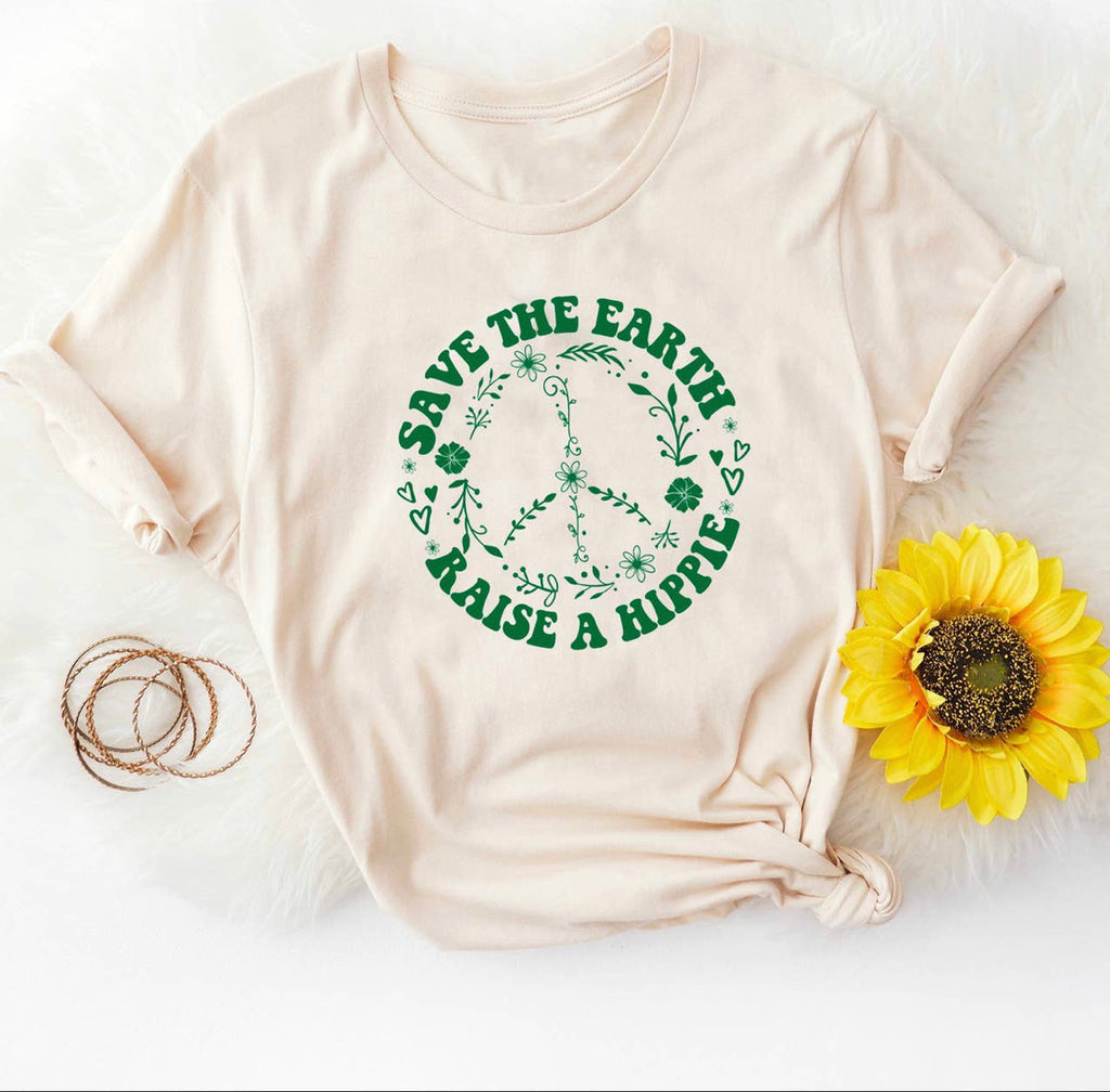 Save The Earth Raise a Hippie Graphic Tee (PRESALE)