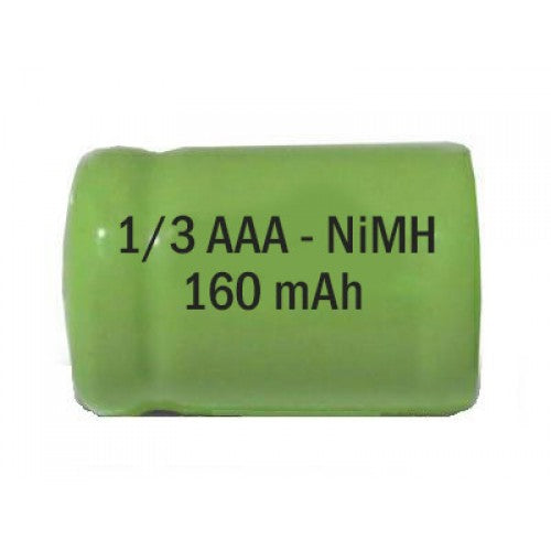 1/3AAA NiMH 1.2V 160 mAh Rechargeable Cell - bbmbattery.ca