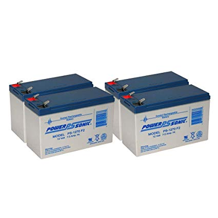 ABLEREX JCXL1000 Replacement UPS batteries - 48V/7.0AH - set of four