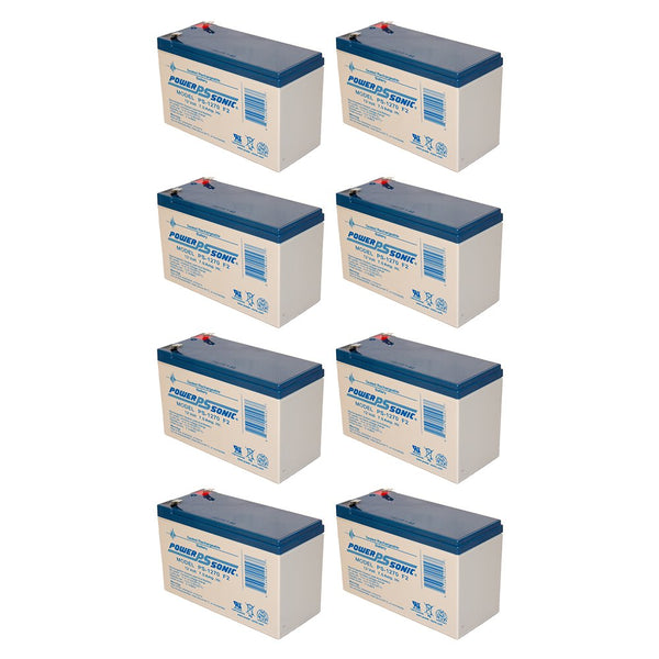 8 x 12V / 7.0Ah UPS Replacement Batteries for ABLEREX JCXL2200