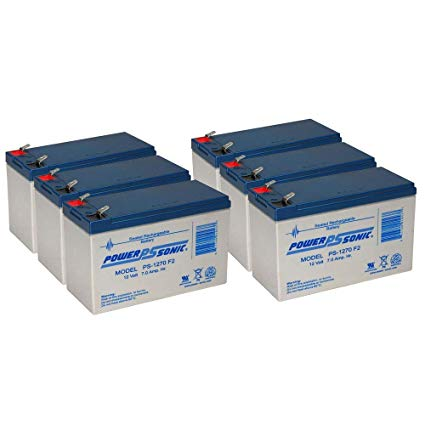 6 x 12V / 7.0Ah UPS Replacement Batteries for ABLEREX MP2000
