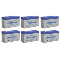6 x 12V / 9.0Ah UPS Replacement Batteries for ABLEREX MP3000