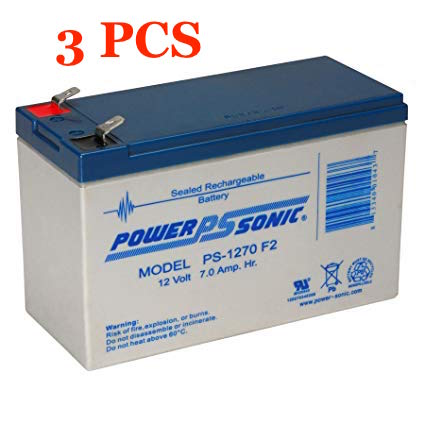 Ablerex MS1000 UPS Replacement Batteries, 36V, set of 3