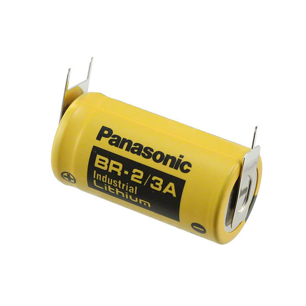 Panasonic  BR2/3AE2SP  Battery with Solder Pins