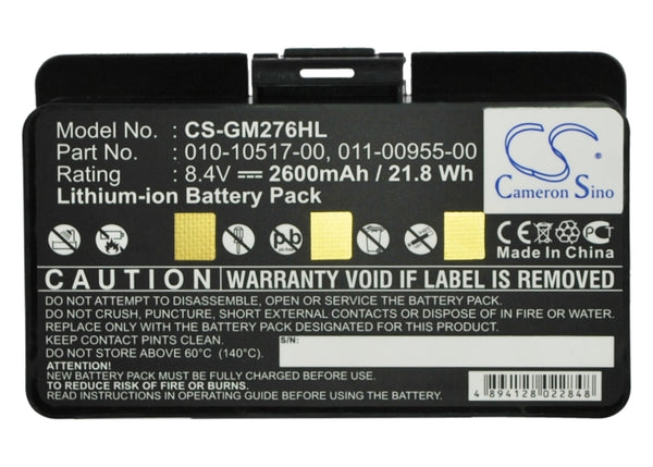 Garmin 010-10517-00, 011-00955-00, 010-10517-01 Replacement Battery for GPSMAP, 100054300, EGM478 and more