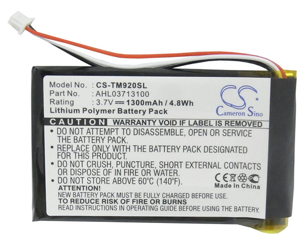 GPS Battery for TomTom GO 920, 920T, XL330, XL330S, One XL 340, 340S LIVE XL -  CS-TM920SL - bbmbattery.ca
