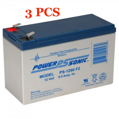 Ablerex JC1500 UPS Replacement Batteries, 36V,  set of 3