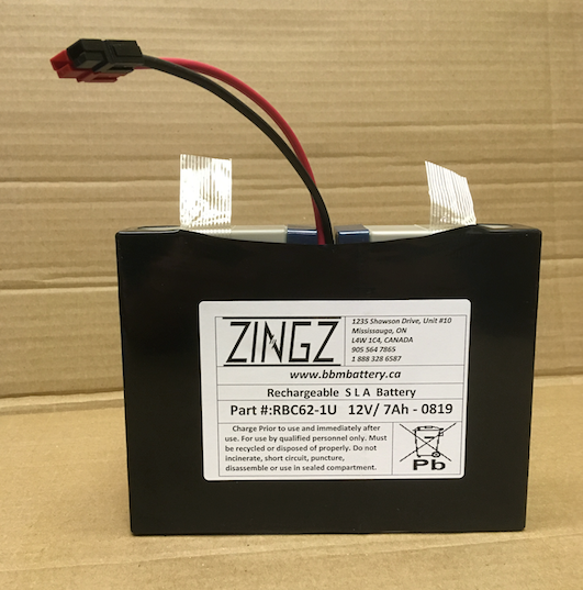 RBC62-1U - ZINGZ 12V Replacement Battery for TRIPP LITE SmartPro UPS