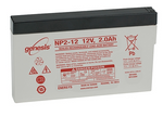 Enersys Genesis NP2-12  - 12V/2.0AH Sealed Lead Acid Battery with side contacts