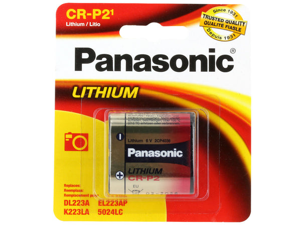 Panasonic CR-P2 Photo Lithium Battery - bbmbattery.ca