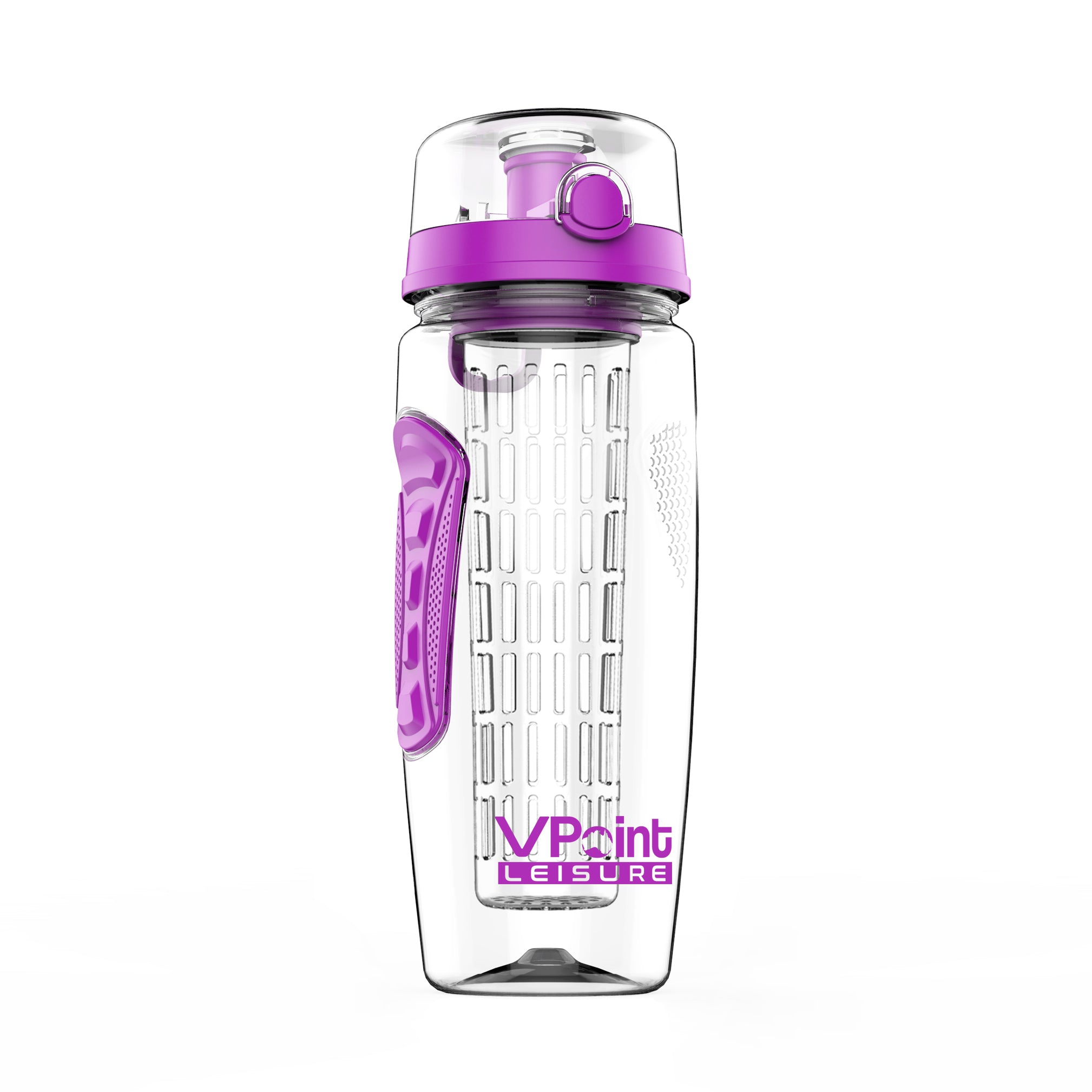 Fruit Infuser Water Bottle With Protein Shaker Insulating Sleeve New Tritan Infusd 1 Litre