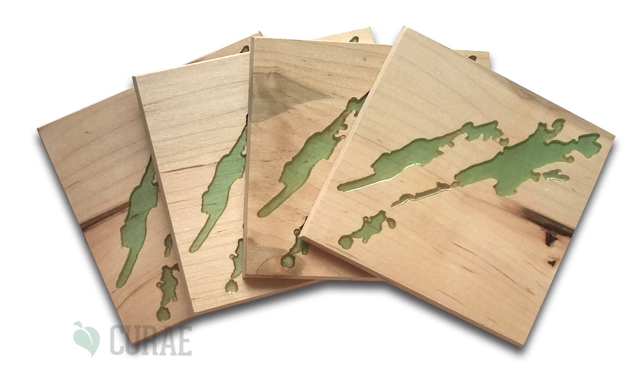 Buck Lake 1 Coaster Set - Curae